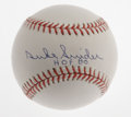 Autographs:Baseballs, Duke Snider & Willie Mays Single Signed Baseballs. Two of thethree great center fielders of 1950's New York City. Each ha...(Total: 2 Items)