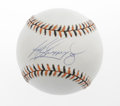 Autographs:Baseballs, Barry Bonds and Ken Griffey, Jr. Single Signed Baseballs Lot of 2.Home run aficionado Barry Bonds has added his signature ... (Total:2 Items)