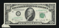 Error Notes:Attached Tabs, Fr. 2013-L $10 1950C Federal Reserve Note. Choice Crisp Uncirculated.. ...