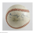 Autographs:Baseballs, Mickey Mantle Multi-Signed Baseball. Multi-signed ball is signed bythe likes of Wally Post, Ted Kluszewski, and Gus Bell -...