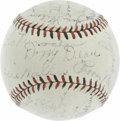 Autographs:Baseballs, 1934 St. Louis Cardinals Team Signed Baseball. The grand and glorious Gashouse Gang is well represented on this ONL (Heydle...
