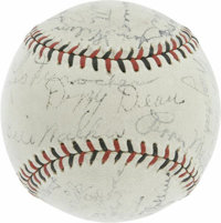 1934 St. Louis Cardinals Team Signed Baseball. The grand and glorious Gashouse Gang is well represented on this ONL (Hey...
