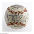 Autographs:Baseballs, 1962 Cincinnati Reds Team Signed Baseball. Vada Pinson, FrankRobinson and Luis Arroyo highlight this fine group of thirty-...