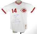 """Autographs:Jerseys, Pete Rose Signed Throwback Jersey. From the Cooperstown Collection,Mitchell & Ness offers this Cincinnati Reds """"Turn Back ..."""