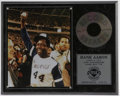 "Autographs:Photos, Hank Aaron Signed Photograph. Flawless blue sharpie signaturegraces this 8x10"" color photo from the evening Hammerin' Hank..."