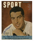 Autographs:Others, 1949 Joe DiMaggio Signed Sport Magazine. This special edition SportMagazine from September 1949 is graced on the cover by ...