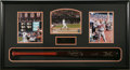 Autographs:Bats, Cal Ripken, Jr. Signed Bat Display. A perfect replica of the IronMan's Louisville Slugger, signed in 10/10 gold sharpie, f...