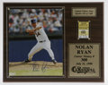 Autographs:Photos, Nolan Ryan Signed Photograph. Exceptionally vivid color photographof the HOF strikeout king is signed in 10/10 blue sharpi...