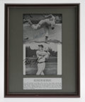 Autographs:Photos, Bobby Thomson and Ralph Branca Signed Photographs. In one of the most dramatic moments in the history of baseball, Thomson ...
