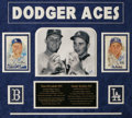 Autographs:Others, Don Drysdale & Sandy Koufax Signed Display. A pair ofPerez-Steele postcards, each signed in 10/10 blue sharpie by theHall...