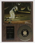 Autographs:Others, Hank Aaron and Pete Rose Signed Plaques. Offered here are twoplaques which celebrate Hit King and Home Run King. First, w...
