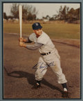 Autographs:Photos, Roy Campanella Signed Large Photograph. Bold and perfectpost-accident blue sharpie signature appears on the ultimatebatti...
