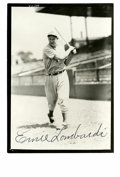 Autographs:Photos, Ernie Lombardi Signed Photograph. Great photograph of the Hall of Fame catcher with near perfect black sharpie signature. ...