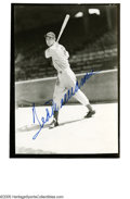 "Autographs:Photos, Ted Williams Signed Photographed. Wonderful 5x7"" vintage photographof the Kid in classic pose. Sports bold 10/10 blue sha..."