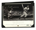 Autographs:Others, Ted Williams Signed Commemorative Sheet. To commemorate his twoTriple Crowns, Upper Deck has produced this sheet which has...