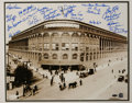 """Autographs:Photos, Brooklyn Dodgers Multi-Signed Large Photograph. Oversized (16x20"""")photo of the famed entryway to Ebbets Field is adorned w..."""