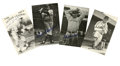 Autographs:Post Cards, Hall of Famers Signed Postcards Lot of 19. Wonderful black and white images each reprinted in postcard size and signed in p...