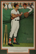 Autographs:Others, Brooks Robinson Signed Print. The famed Saturday Evening Postartist Norman Rockwell captures the innocent joy of a young f...