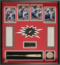 Baseball Collectibles:Bats, Mark McGwire 1998 Game Used Bat Display. A healthy chunk of a bat used by the hard-slugging Cardinal during his record-brea...