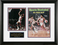 "Autographs:Photos, Julius ""Dr. J"" Erving Signed Photograph Display. Awesome shot of anafro'ed Dr. J driving to the hoop is signed in 10/10 si..."