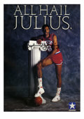 "Basketball Collectibles:Others, Julius Erving Signed Poster. The amazing Dr. J has graced this 23x17"" Converse poster with his perfect black sharpie signat..."