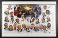 Basketball Collectibles:Others, NCAA Basketball Coaches Multi-Signed Poster. Raising money forCoaches Against Cancer, twenty-eight legendary leaders appli...