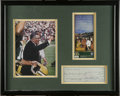 Football Collectibles:Others, 1960 Vince Lombardi Signed Check Display. The legendary Green Bay Packers coach pays $5,759.64 to Bertrand's Sport Shop fro...