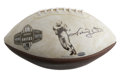 """Football Collectibles:Balls, Johnny Unitas Signed Football. These commemorative footballs were produced to honor the """"Quarterbacks of the Century"""" -- Mo..."""