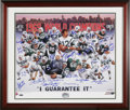 Football Collectibles:Others, 1969 New York Jets Signed Print. Gorgeous print remembering the glorious World Championship season is signed by Namath, Al...