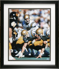 Football Collectibles:Others, Troy Aikman Signed Large Photograph. The future Dallas Cowboys Hall of Fame quarterback takes a snap as leader of the UCLA ...