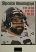"""Football Collectibles:Photos, Franco Harris Signed Large Photograph. Oversized (16x20"""") photographic print of the August 23, 1982 cover of Sports Illustr..."""