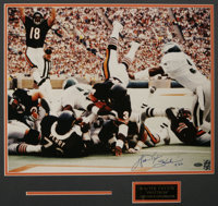 """Walter Payton Signed Large Photograph. """"Walter Payton, 'Sweetness,' All Time Leader in Yards Rushing (16,726)""""..."""