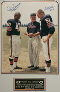 """Football Collectibles:Others, Gale Sayers & Dick Butkus Signed Large Photograph. Limited edition (114/200) piece features a tremendous (16x20"""") photo of ..."""