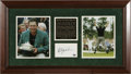 Golf Collectibles:Autographs, Phil Mickelson Signed Display. Incredible limited edition (4/30)display pairs a 10/10 signed blank index card with a pair ...