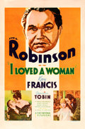 "Movie Posters:Drama, I Loved a Woman (First National, 1933). One Sheet (27"" X 41"").. ..."