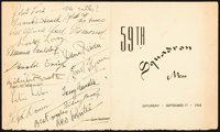 """The Dawn Patrol (Warner Brothers, 1938). Autographed Wrap Party Menu (17"""" X 7"""")"""