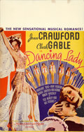 "Movie Posters:Musical, Dancing Lady (MGM, 1933). Window Card (14"" X 22"").. ..."