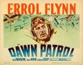 "Movie Posters:War, The Dawn Patrol (Warner Brothers, 1938). Linen Finish Title LobbyCard (11"" X 14"").. ..."