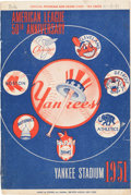 Baseball Collectibles:Programs, 1951 New York Yankees Program Dated to Mantle's Second Game & Second Hit. ...