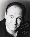 Baseball Collectibles:Photos, 2000 James Gandolfini Signed Photograph to Yogi Berra withInteresting Inscription. ...