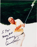 Autographs:Photos, 2006 Arnold Palmer Signed Photograph to Yogi Berra. ...