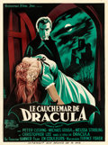 "Movie Posters:Horror, Horror of Dracula (Universal International, 1958). French Grande(47.25"" X 63.5"") Guy Gerard Noël Artwork.. ..."