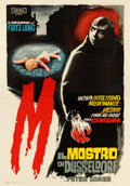 "Movie Posters:Crime, M (Unitis, 1960). First Post-War Release Italian 4 - Fogli (55"" X78"") Niso ""Kremos"" Ramponi Artwork.. ..."