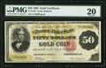 Large Size:Gold Certificates, Fr. 1193 $50 1882 Gold Certificate PMG Very Fine 20.. ...