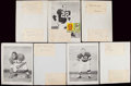 Autographs:Index Cards, 1959 Cleveland Browns Signed Sheets....