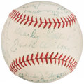 Autographs:Baseballs, 1940 Boston Red Sox Team Signed Baseball. ...