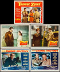 "Movie Posters:War, The Caine Mutiny & Others Lot (Columbia, 1954). Lobby Cards (5)(11"" X 14""). War.. ... (Total: 5 Items)"