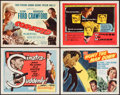 """Movie Posters:Film Noir, Suddenly & Others Lot (United Artists, 1954). Title Lobby Cards (4) (11"""" X 14""""). Film Noir.. ... (Total: 4 Items)"""