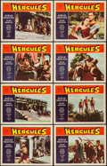 "Movie Posters:Action, Hercules (Warner Brothers, 1959). Lobby Card Set of 8 (11"" X 14"").Action.. ... (Total: 8 Items)"