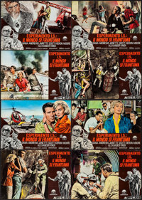 "Crack in the World (Paramount, 1965). Italian Photobustas (8) (18.75"" X 26.25""). Science Fiction. ... (Total:..."